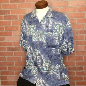 Tommy Bahama Mens silk Hawaiian shirt L (4Z67)